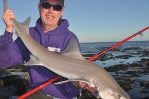 Joe Arch with a smoothhound caught on the Tronixpro Naga MX