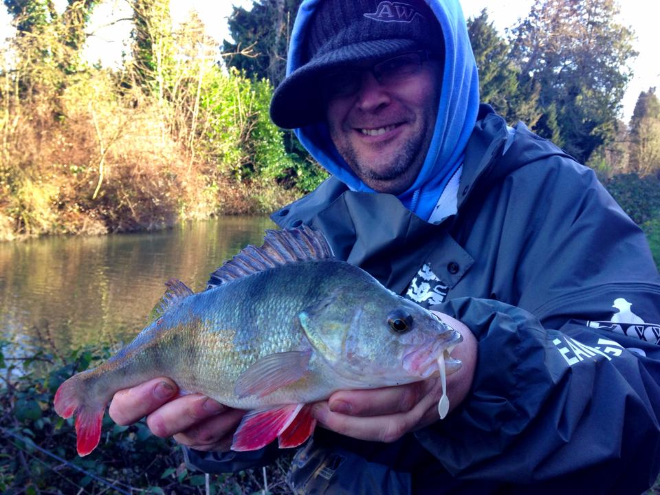 George catches mace perch on HTO light game lure