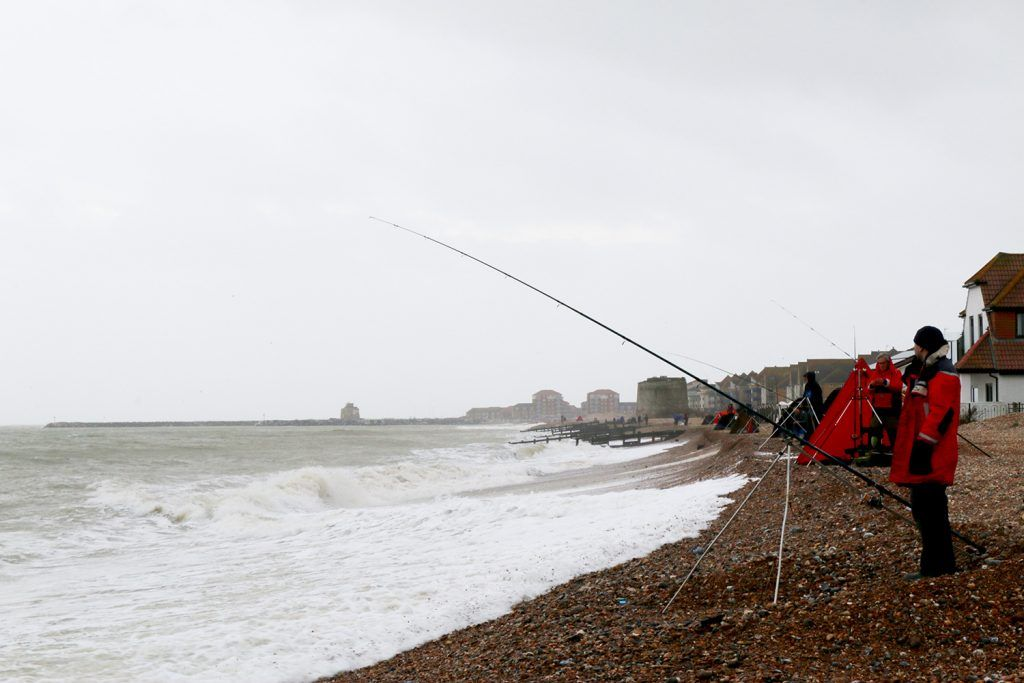The best match anglers in the country line the beaches of Eastbourne on day one of the Tronixpro National Sea League Finals.