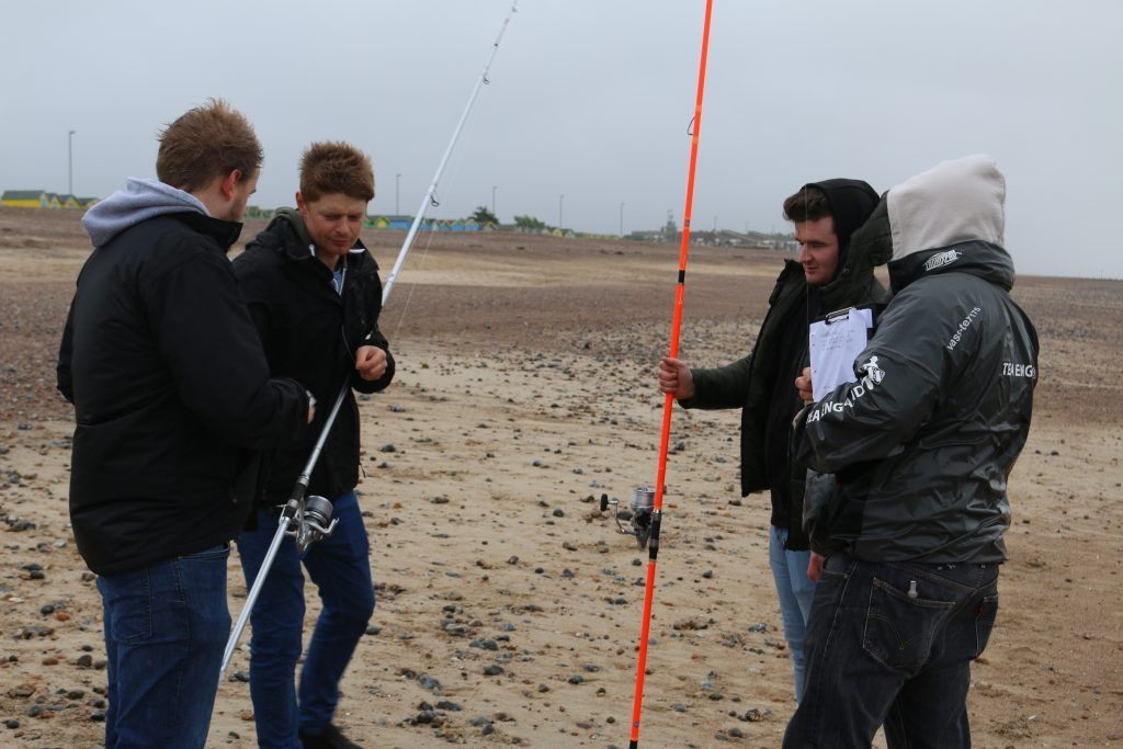 Vercelli Rods - Notepads in hand, the lads get together to rate each rod.