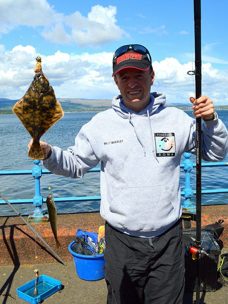 Billy Buckley with a flounder from the Clyde