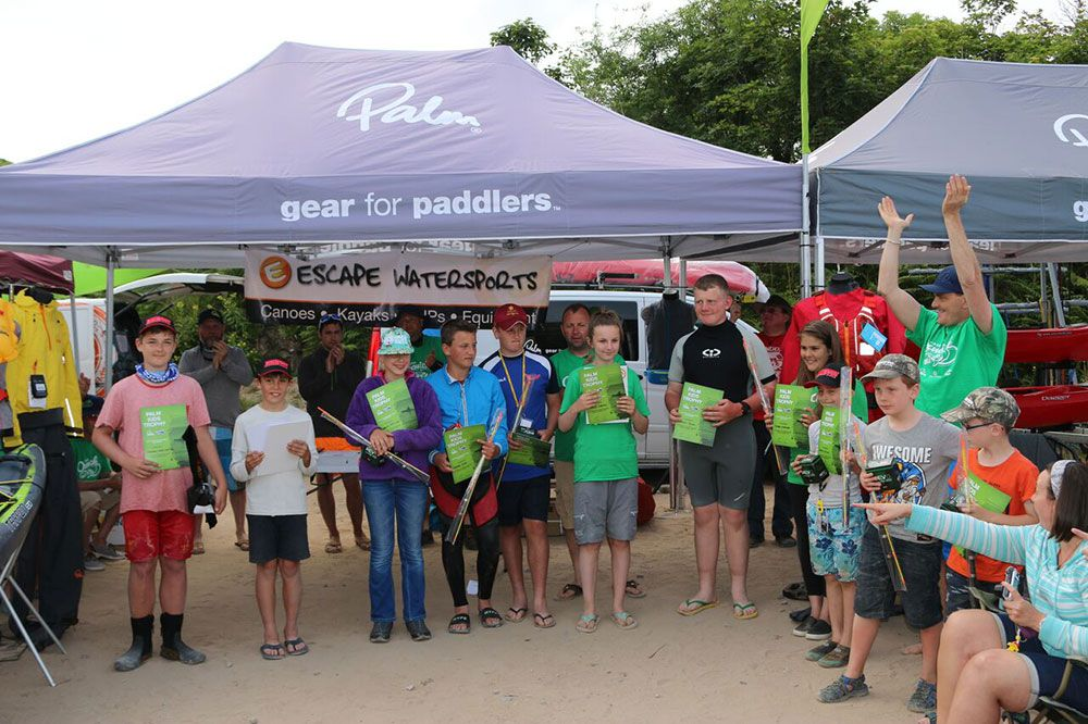 Junior Kayak Anglers show off their prizes