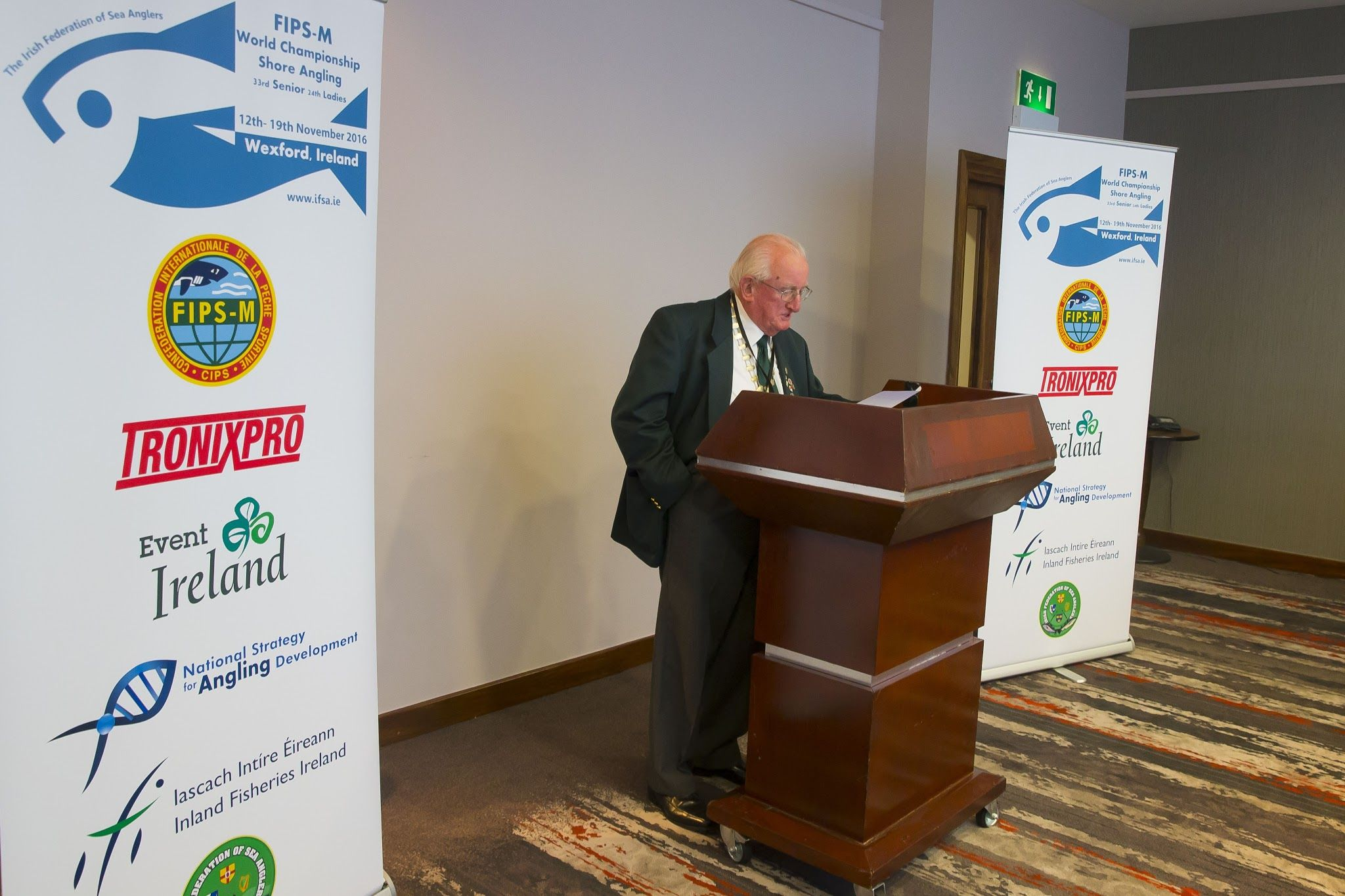 Pat Walsh President of the Irish Federation of Sea Anglers.