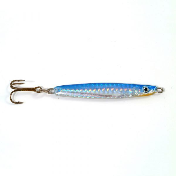 4 BLUE SILVER 60g Sea Jig Beach Casting Lures Cod Mackerel Bass Sea Fishing rig